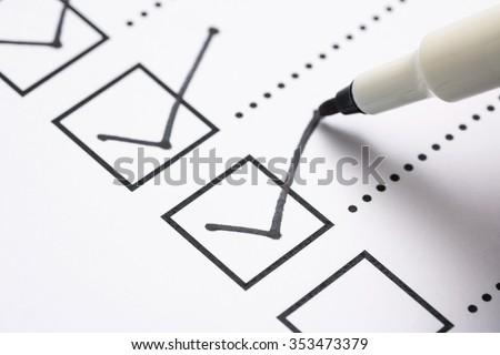 Verificar lista aprovado documento negócio internet Foto stock © yupiramos