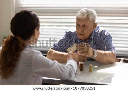 Lekarza konsultacja pacjenta medycznych diagnoza Zdjęcia stock © snowing
