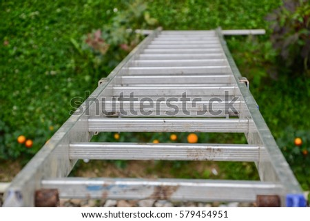 Painter leaning against ladder Stock photo © photography33