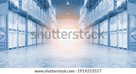 pallet jack in the industrial hall Stock photo © Hasenonkel