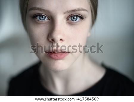 молодые чувственный женщину портрет красивая девушка Сток-фото © prg0383
