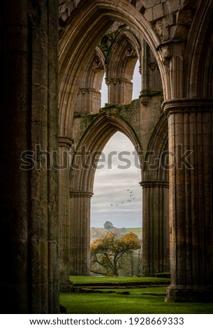 Stock photo: Ruins of famous Riveaulx Abbey