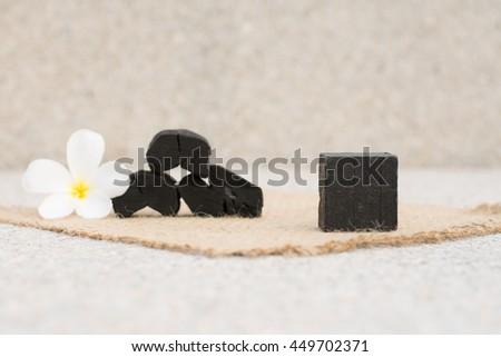 Naturalnych węgiel mydło piękna czarny skóry Zdjęcia stock © joannawnuk