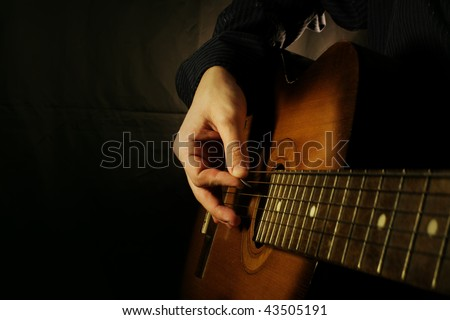 rock guitar instrument acoustic electric theme Stock photo © vector1st