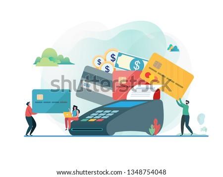 Credit cardconcept landing page. Stock photo © RAStudio