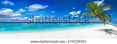 Mooie strand landschap tropisch strand blauwe hemel zon Stockfoto © iko