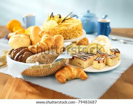 Delicious Sweet Cake Bread Foto d'archivio © bogumil