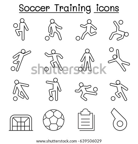 Running Player Icon Vector Outline Illustration Stock photo © pikepicture