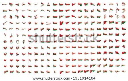 Büyük toplama vektör bayraklar Umman dünya Stok fotoğraf © butenkow