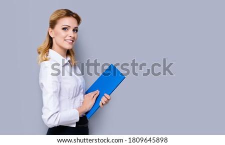 loiro · empresária · retrato · belo · mulher · de · negócios - foto stock © dash