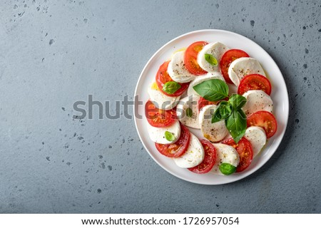 Tomato Mozzarella Basil Stock photo © Moradoheath