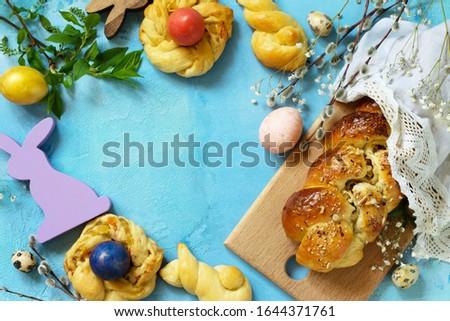 Stock fotó: Olasz · húsvét · sütemény · kicsi · pite · töltött