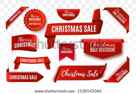 Christmas White title ribbon Stock photo © Blue_daemon