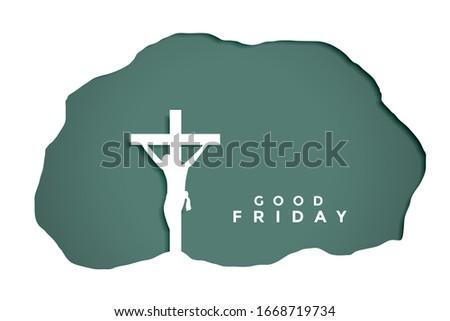 good friday background in papercut style design Stock photo © SArts