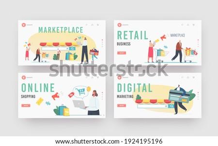Mobile based marketplace concept landing page. Stock photo © RAStudio