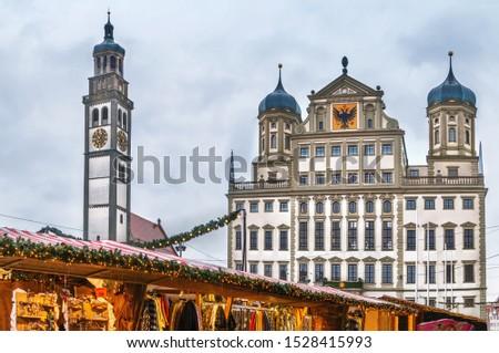ратуша Германия город центр небе путешествия Сток-фото © borisb17