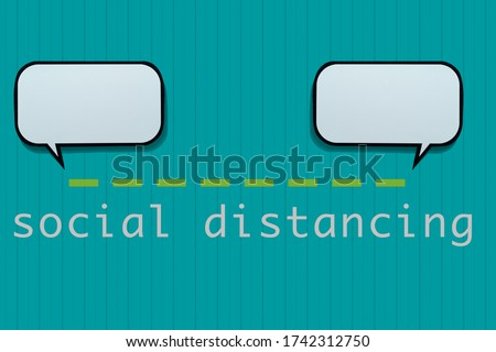 speech balloons and text social distancing Stock photo © nito