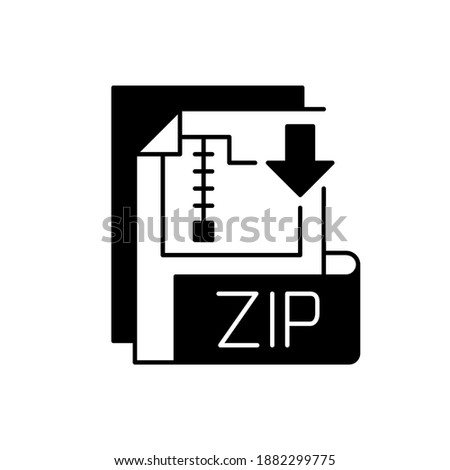 Simple black file icon with zip extension Stock photo © evgeny89