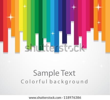 Resumen arco iris color vibrante líneas diseno Foto stock © SArts