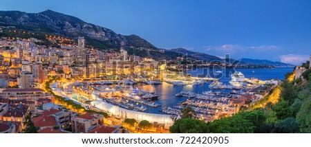 Ver Mônaco noite porto Foto stock © dmitry_rukhlenko
