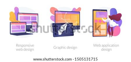Adaptive web design vector concept metaphor. Stock photo © RAStudio