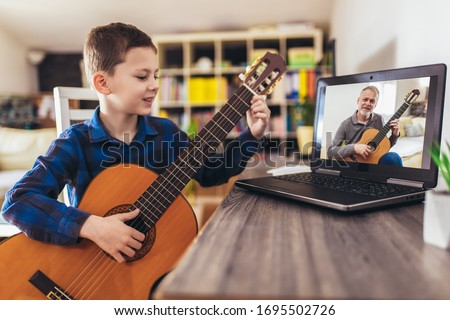 boy with guitar stock photo © simply