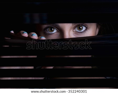 girl behind blinds Stock photo © photography33