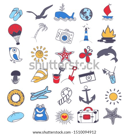 Ayarlamak taşıma semboller tıbbi okyanus Stok fotoğraf © Ecelop