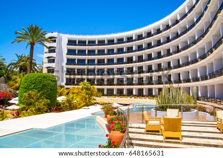 Tourist hotel building Stock photo © speedfighter