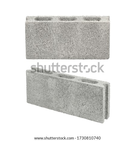 stack of clay bricks isolated on white stock photo © elnur