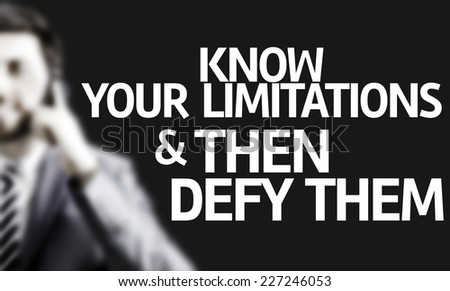 Defy your limitations Stock photo © maxmitzu
