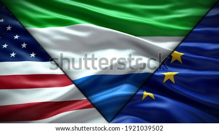 european union and sierra leone flags stock photo © istanbul2009