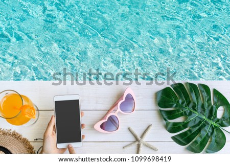 The woman lays in pool Stock photo © Paha_L