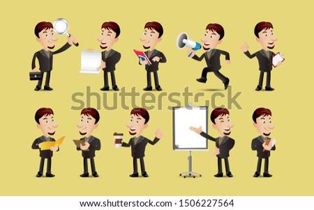 üzletemberek megbeszél nagy közlemény megbeszélés digitális kompozit Stock fotó © wavebreak_media