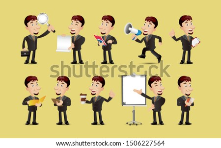 business people discussing big announcement at meeting Stock photo © wavebreak_media