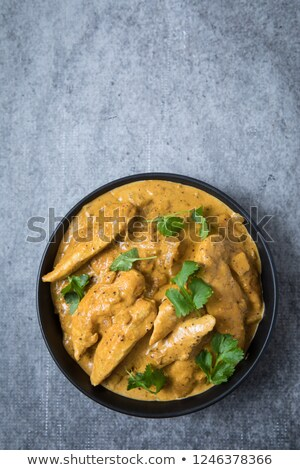 chicken korma curry and rice Stock photo © nito