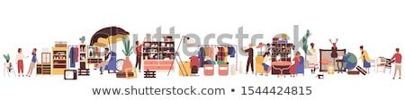 Második elad áru bútor vásár vektor Stock fotó © robuart