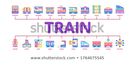 Public Transport Minimal Infographic Banner Vector Stock photo © pikepicture