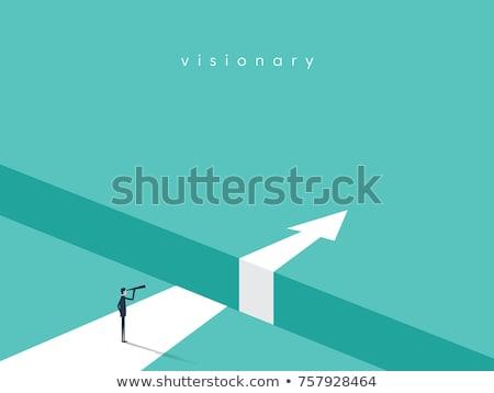 business · concurrenten · twee · zakenman · bokshandschoenen · ring - stockfoto © lightsource