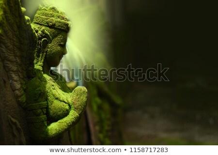 estátua · belo · dourado · céu · arte · anjo - foto stock © vapi