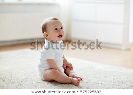 Baby sitting on floor Stock photo © nyul