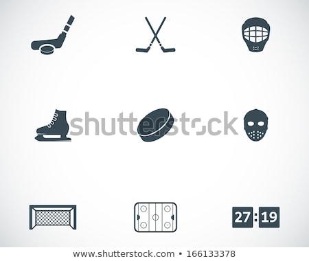 ice hockey icon set stock photo © bspsupanut