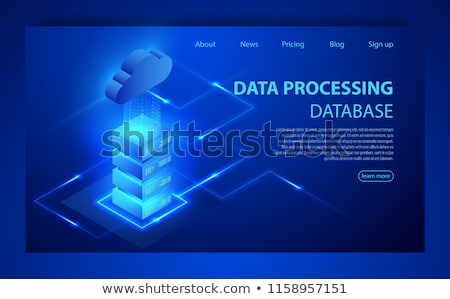 Big Data and cloud computing banner with icons. Stock photo © cifotart