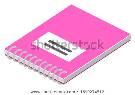 Book and Notebook with Spiral 3D Isometric Style Stock photo © robuart