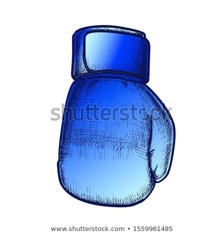 боксерская перчатка ткань ретро вектора окна Сток-фото © pikepicture