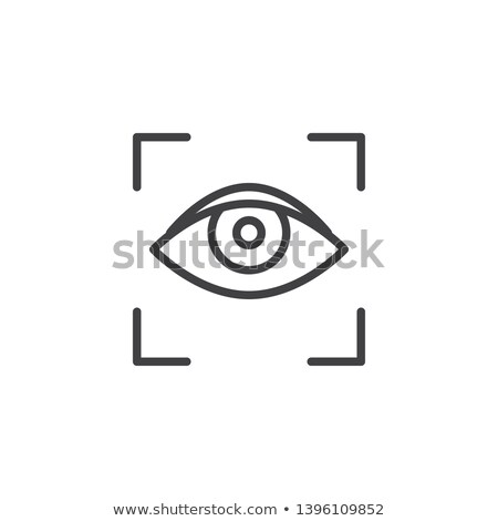 human eye scanning icon vector outline illustration stock photo © pikepicture