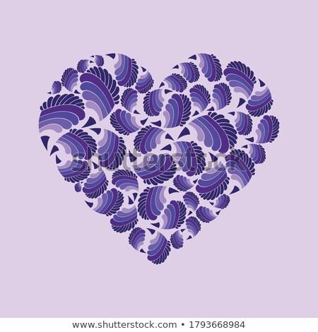 San valentino cartolina cuore conchiglia amore vettore Foto d'archivio © robuart