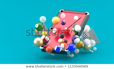 Hands Billiard Balls Top View Illustration Stock photo © lenm