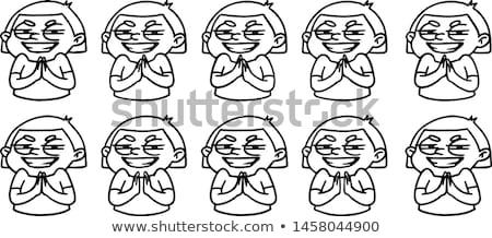 Karikatür kız eller animasyon çerçeve döngü Stok fotoğraf © vasilixa