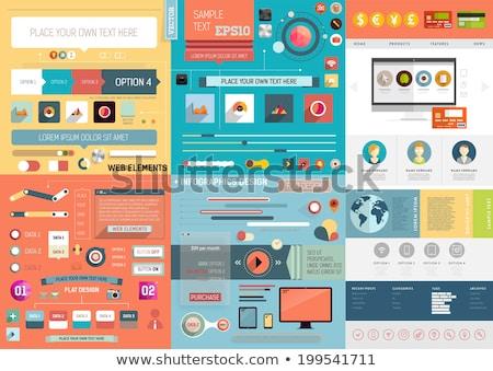 Kalender stijl mobiele interface vorm ingesteld Stockfoto © Olena